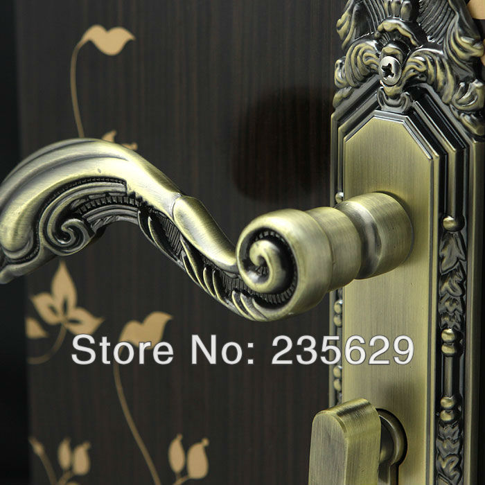 Free Shipping, Bedroom, Bathroom, Kitchen Door Lock, Antique Copper finished lock, 35-45mm door thickness,double bolts free shipping bedroom bathroom kitchen door lock antique copper finished lock 35 45mm door thickness double bolts