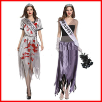 2018 new Halloween horror costume cosplay role playing ghost new year bloody dress ghost festival hell goddess stage performance