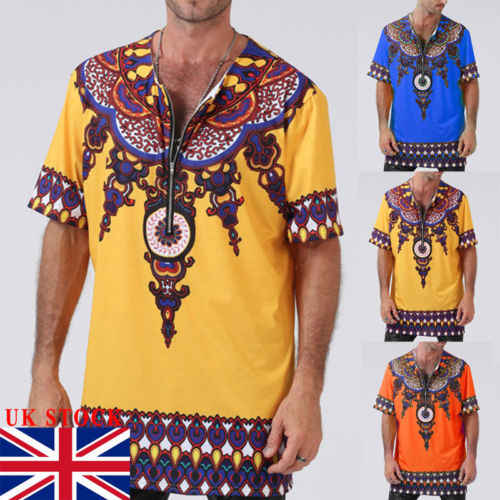 861d82edb7cb Detail Feedback Questions about African Clothing Dashiki Style Men t shirt  Printing Tops Mexican Hippie Tribal T Shirt on Aliexpress.com