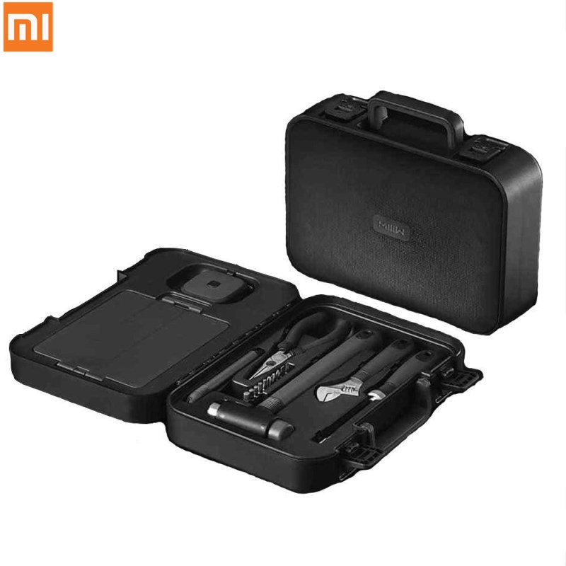 D'origine Xiaomi MIIIW 6 + 2 DIY Trousse à Outils De Ménage Main Outils De Réparation Tournevis Clé Marteau Bande Pince Couteau avec boîte à outils