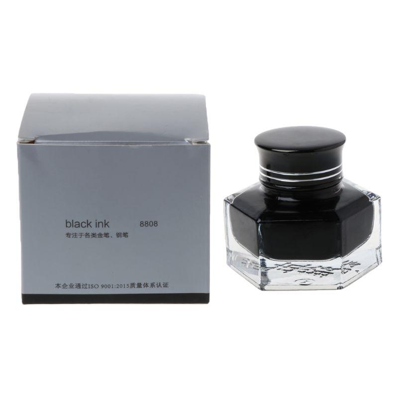 50ml Non Carbon Black Fountain Pen Ink Refill Glass Bottled Fluency Writing School Supplies|Pen refill| |  - title=