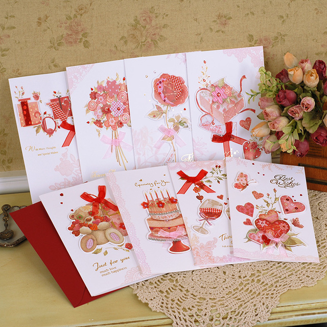 Aliexpress buy sweet handmade card for friendbirthday sweet handmade card for friendbirthdayvalentinecreative greeting cards with envelopes m4hsunfo