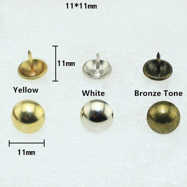 Bon Iron Upholstery Nail Antique Jewelry Case Box Sofa Decorative Tack Stud  Pushpin Decorative Furniture Nails 11mm