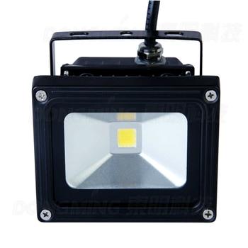 Lowest price 10pcs high power black cover RGB led flood light bulb cool white IP65 900LM AC85-265V portable 10w led spotlight