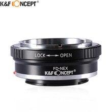 K&F CONCEPT FD-NEX Camera Lens Mount Adapter Ring for Canon FD Lens to for Sony Alpha NEX E-Mount  NEX3 NEX5 NEX6 NEX5N NEX7