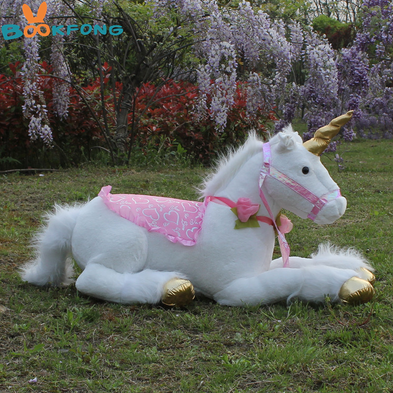 85cm Jumbo blanc licorne jouets en Peluche géant licorne Animal en Peluche cheval jouet doux Unicornio Peluche poupée cadeau enfants accessoires de Photo - 5