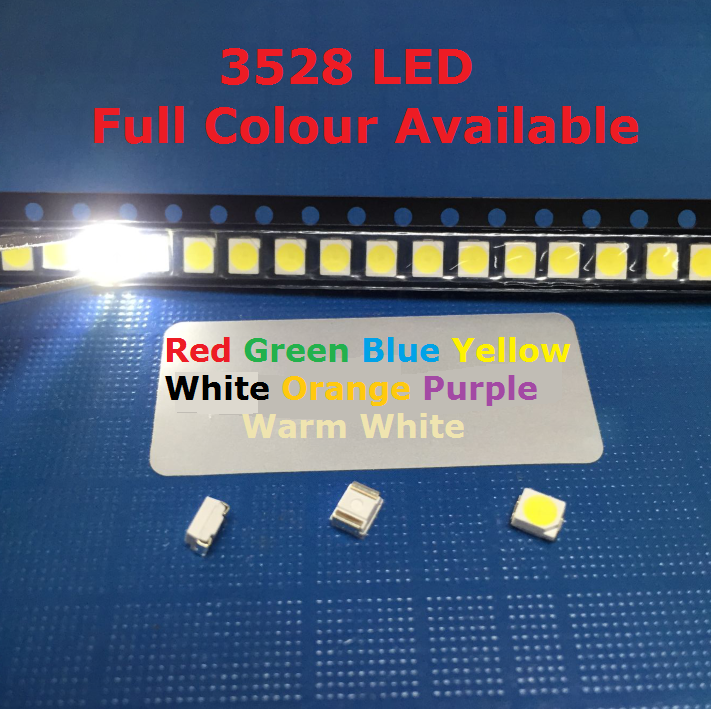 100 x LED 1206 Blue SMD LEDs SMT Lights Super Ultra Bright Car Models RC PC Xbox