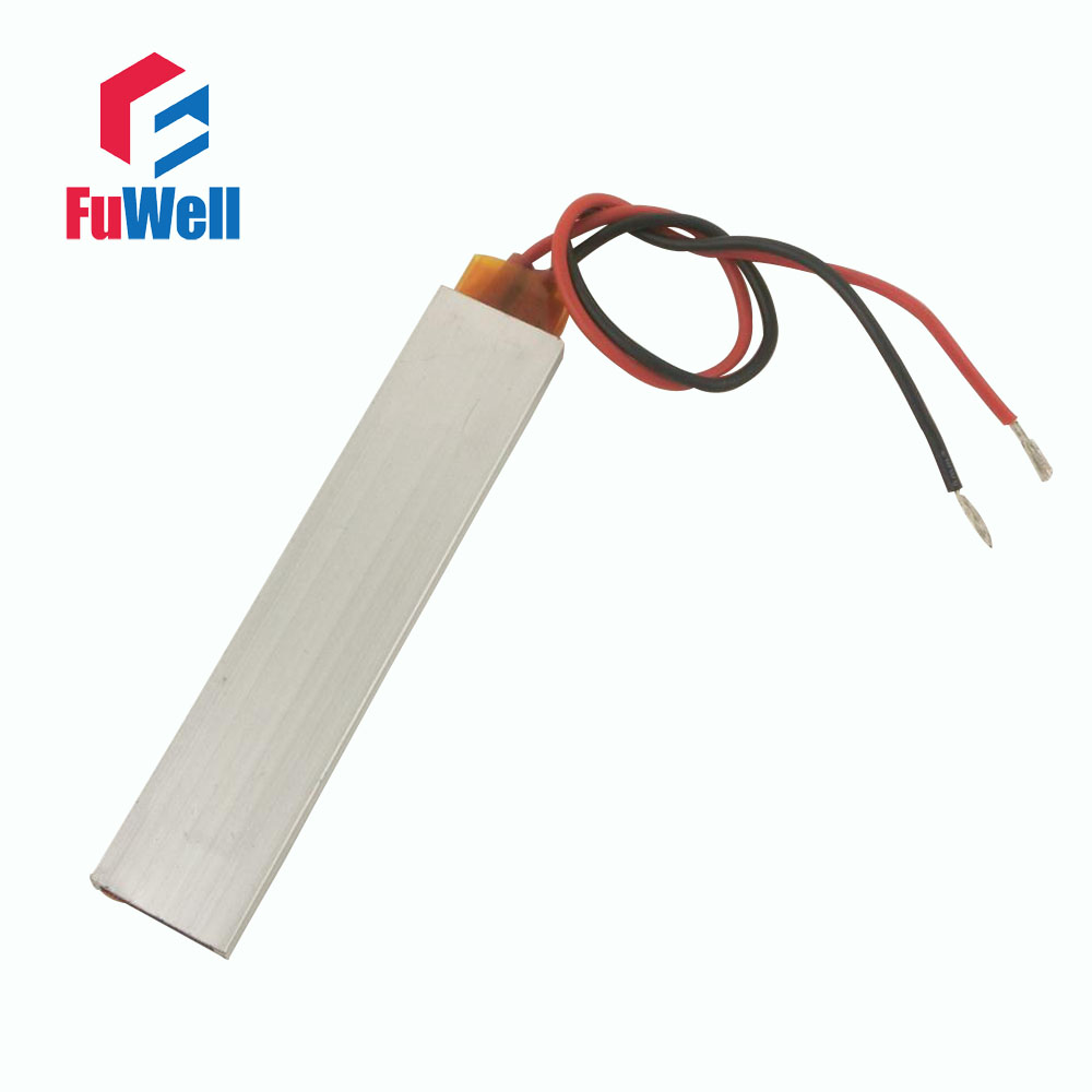 30W 12V 65 Degree Constant Temperature PTC Heating Element Heater Plate 100X21x5mm Safety Surface Insulation 12v 60w 180 degree aluminum ptc heating element thermostat heater plate 77 x 62 x 6mm home improvement tools mayitr