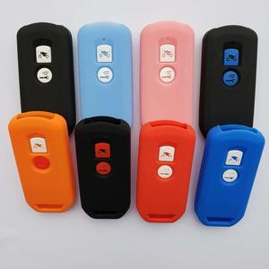 Protective Silicon Key Case For Honda X ADV SH 125 150 300 Forza 125 300 PCX150 2018 Motorcycle Scooter 2 Button Smart Key(China)