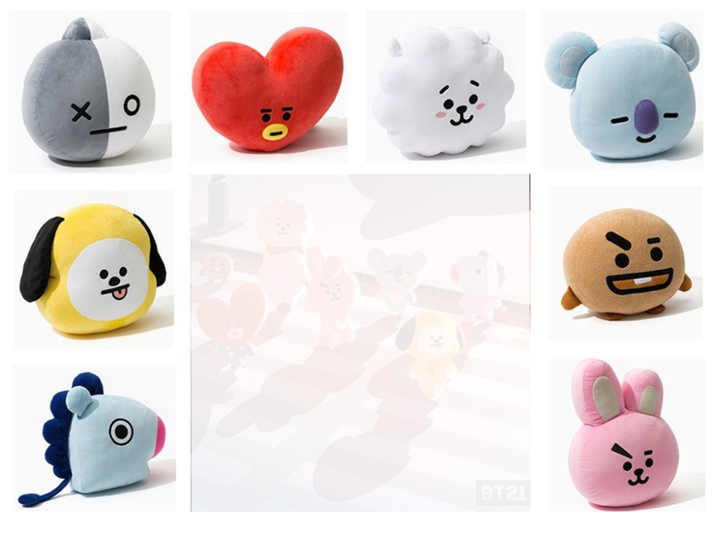 Novelty & Special Use New Kpop Bangtan Boys Bts Bt21 Vapp Same Pillow Plush Cushion Warm Bolster Q Back Soft Stuffed Doll 25 Cm Tata Cooky Chimmy Strong Packing Costumes & Accessories