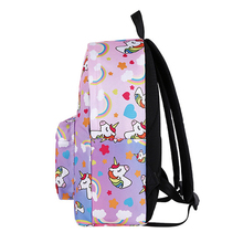 Unicorn Patterned School Bag for Girls