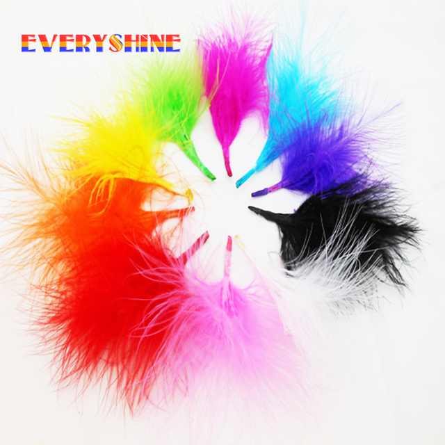 720pcs lot colorful dyed fluffy turkey feathers for diy jewelry