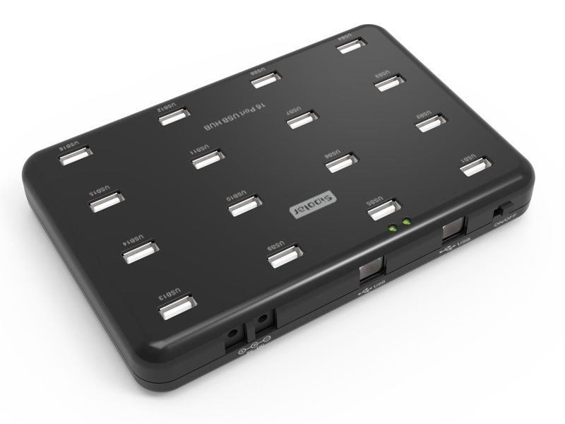 Sipolar industrial-grade 16 port usb 2.0 hub with exernal power supply hightek hk 5110a industrial grade 1 port rs232 485 to 4 port rs485 hub each port with optical isolation 600w thunder protection