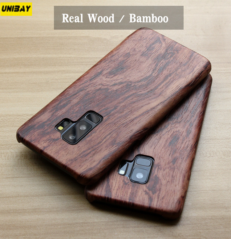 low priced aad5e 6c1d5 US $24.79 20% OFF|For Galaxy S9 Plus Case for samsung galaxy s9 s9+ Real  Wood Bamboo Back Cover anti Scratch for galaxy s9 Plus case -in Fitted  Cases ...