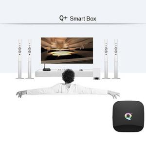 Image 4 - Q box Artı Dört Çekirdekli 4 GB + 32 GB Android 9.0 TV 4 K HD akıllı medya oynatıcısı WI FI HDMI sıcak Satış Yüksek kalite