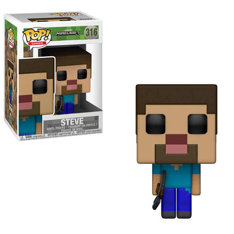FUNKO POP Minecraft & CREEPER STEVE STEVE IN DIAMANTE ARMATURA Vinyl Action Figure Collection Giocattoli di Modello Per I Bambini regalo Di Compleanno