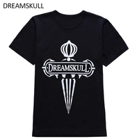 DREAMSKULL High Quality 100 Cotton Black Big Size Short Sleeve T Shirt Top Tee Casual Custom