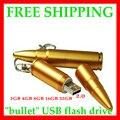 Capacidade Real de Metal Forma de Bala stick USB Genuine 1 GB 2 GB 4 GB 8 GB 16 GB 32 GB 64 GB 128 GB 512 GB Memory Stick USB Flash Pen unidade