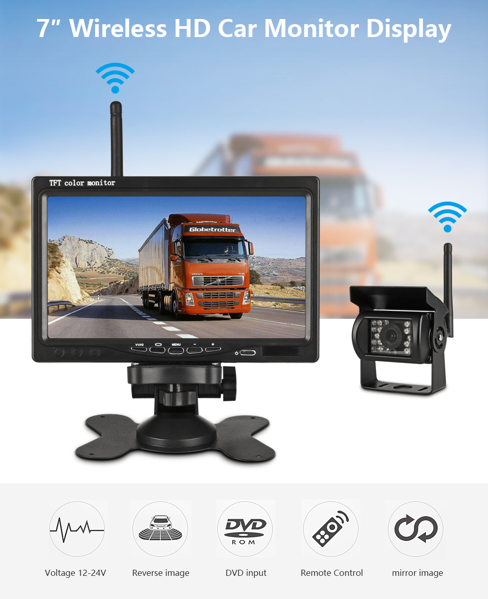 7 Inch Wireless Car Monitor
