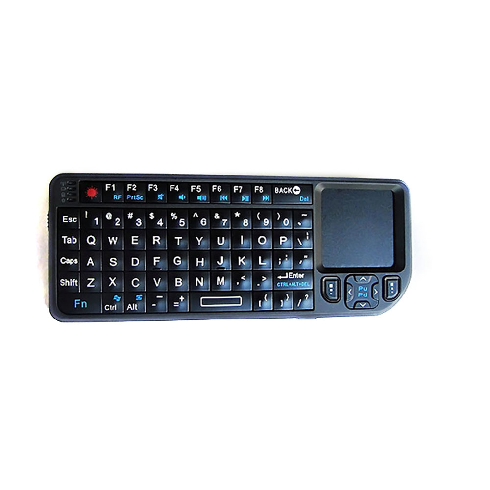 Black Wireless Mini Ultra Slim Keyboard and Mouse for Easy Smart TV Contol for Panasonic TX-P42X60 Smart TV