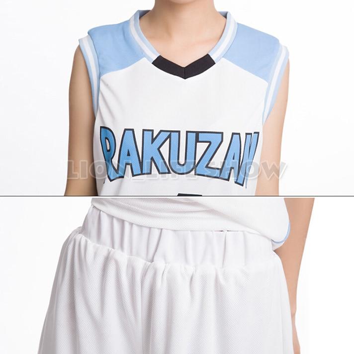 Kuroko no basuke deporte rakuzan 4   Akashi seijuro Baloncesto Jersey  Pantalones cortos conjunto Cosplay trajes uniforme deportivo en Disfraces anime  hombre ... 202c80db31092