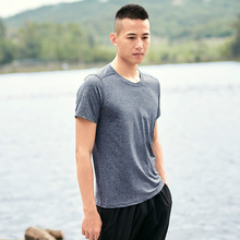 9XL Men Sweatshirts Elastic Short T-Shirt male running Jogging Leisure Fitness Gym Training Workout Shirts Plus Size