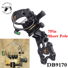 1pc Archery Compound Bow Sight Micro Adjustable Aluminum Alloy 7 Pin .019'' Bow Sight For Outdoor Shooting Hunting Accessories 2 color compound bow 40 60lbs aluminum alloy slingshot bow with peep sight for adult hunter outdoor hunting shooting