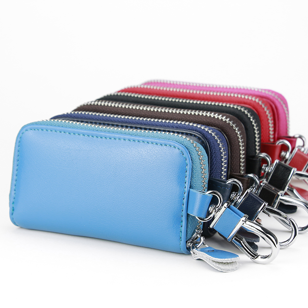 Top Grade Zipper Key Holder Card Holder inside Zipper Car key Bag Multifunction Hook Key Case Multicolor Soft Leather Key Wallet александрова н сентиментальный душегуб