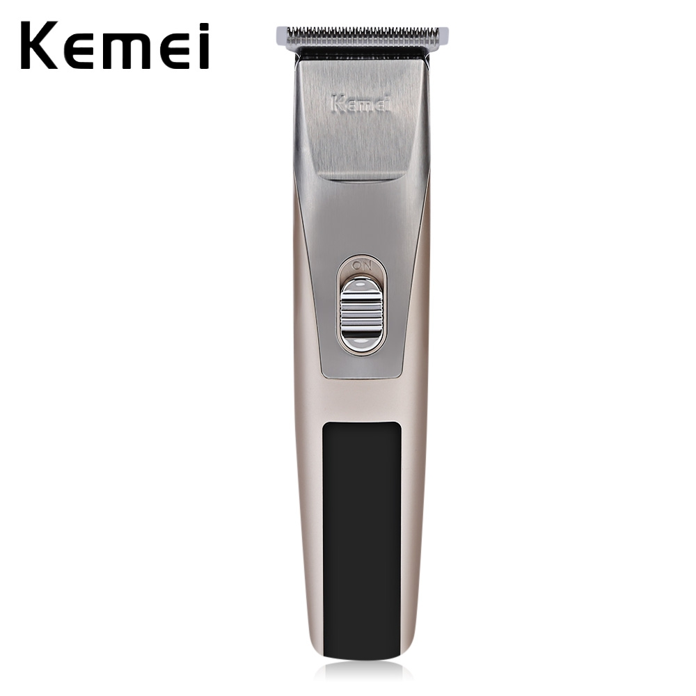 Kemei KM - 2158 Rechargeable Hair Clipper Trimmer Shaver Razor Low noise Clipper Haircut for Men Baby 110 240v low noise rechargeable hair trimmer titanium blade 0 8 2 0mm adjustable hair clipper with 4 limit comb km 6688 s43