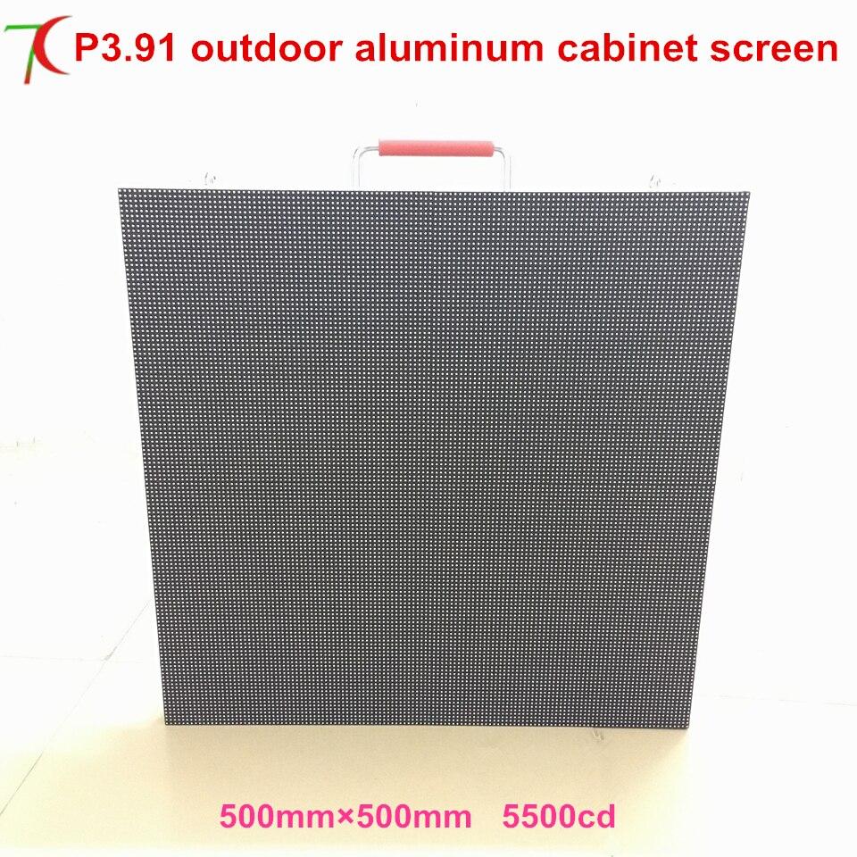 SMD di colore completo esterno parete video TV P3.91 formato 500*500mm IP65 Full color display a led cabinetSMD di colore completo esterno parete video TV P3.91 formato 500*500mm IP65 Full color display a led cabinet