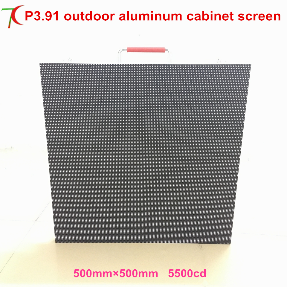 SMD Full Color Outdoor Video Wall TV  P3.91 Size 500*500mm IP65 Full Color Led Display Cabinet