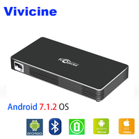 VIVICINE WIFI LED Mini Projector C800W,Built in Battery Andriod 7.1 Bluetooth,Support Wired Mirroring and Wireless Miracast/DLNA