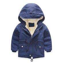 326f60bed Abrigo de invierno para niños y niñas rompevientos moda Parka gruesa  chaqueta cálida para niños más Abrigo con capucha de tercio.