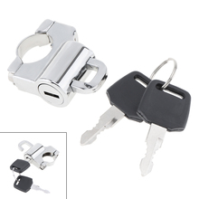 Universal 22mm Electroplating Motorcycle Helmet Lock Accessories with Key for Motorbike Bicycle