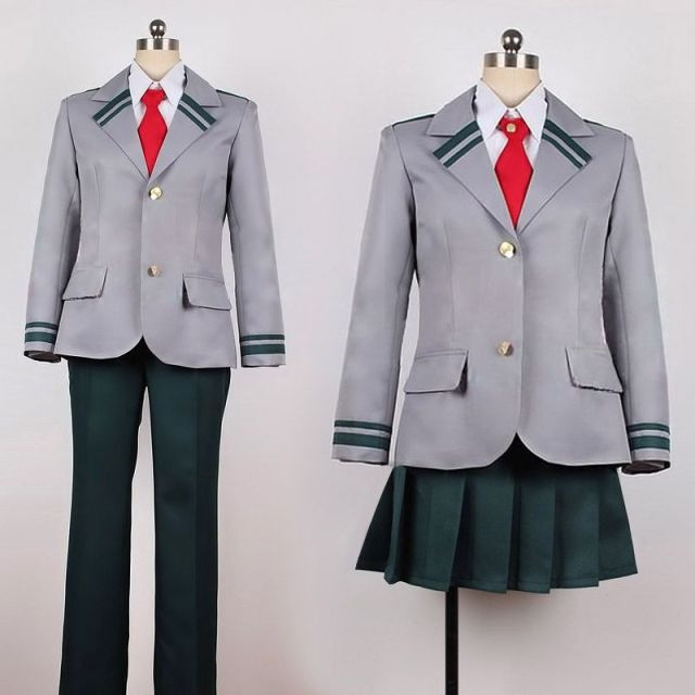 My Hero Academia School Uniform Cosplay Costume Boku no Hero Academia Midoriya Izuku Bakugou Katsuki Cosplay Jacket Dress
