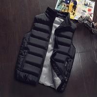 New Mens Jacket Sleeveless Veste Homme Winter Fashion Casual Coats Male Cotton Padded Men S Vest