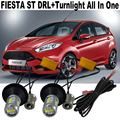 2x Free shipping For Ford Fiesta Review ST 2011-2014 DRL Car LED light Daytime Running Lights DRL&Front Turn Signals  All In One