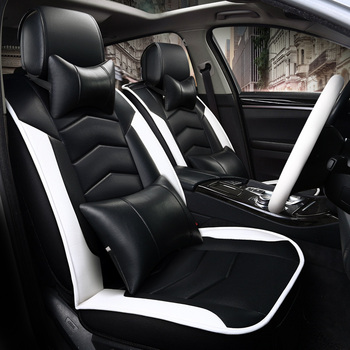 sport style PVC/PU leather universal fit car seat cover four season using for toyota