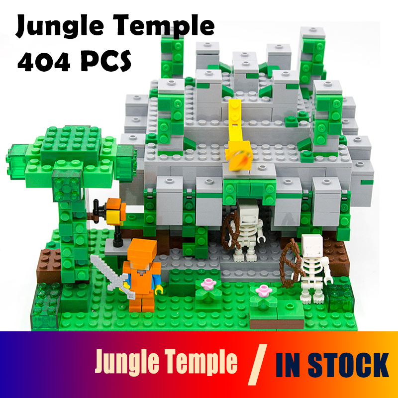 18026 Model building kits compatible with lego 21132 my worlds MineCraft The jungle temple Educational toys hobbies for children herbert george wells the war of the worlds