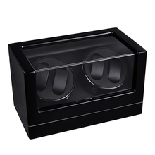 Watch Winder ,LT Wooden Automatic Rotation 4+0 Watch Winder Storage Case Display Box (black)