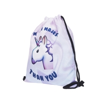 Unicorn Drawstring Bags Backpack String Kids Drawstring Backpack Rammstein Backpack Waterproof Women Canvas String Bags Pouch