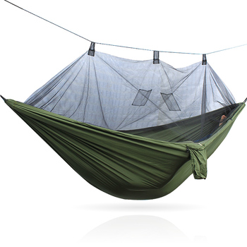 portable camping hammock hanging bed with mosquito