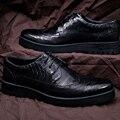 Лучшие классические мужчины квартиры обувь оксфорд стиль бизнес ручной шнуровке кожа баллок ужин легкий удобный деби башмаки дизайн