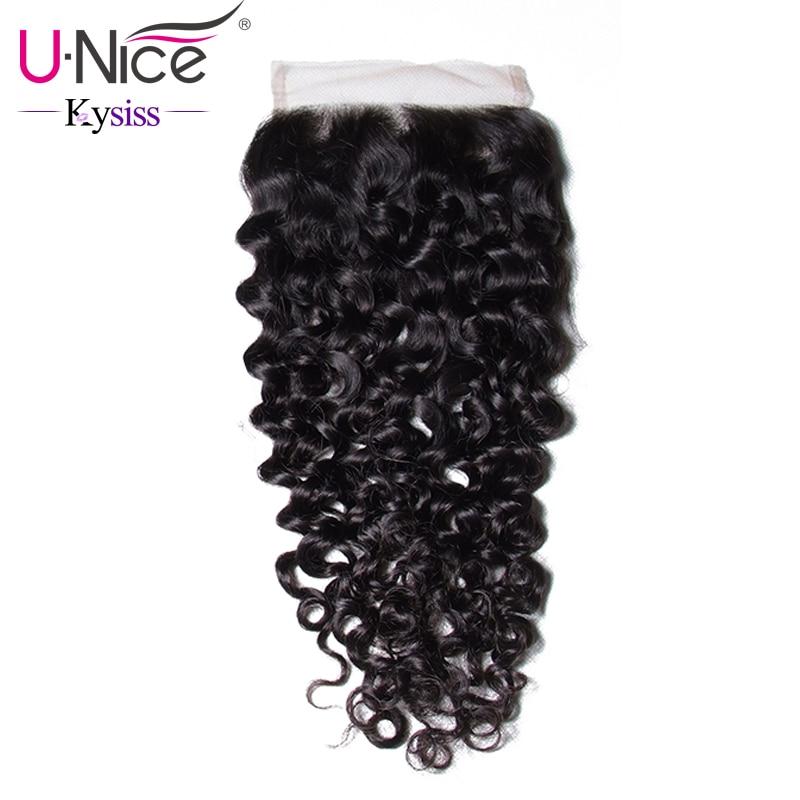 Unice Lace Closure Hair Virgin Brazilian Curly X4 X4