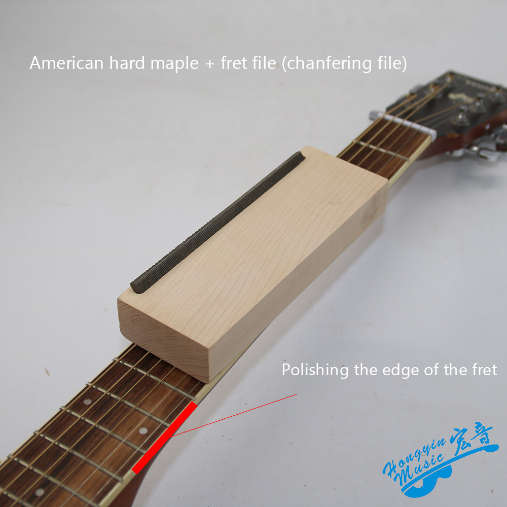Bakelite Guitar Fret Crowning Luthier File American Hard Maple Iron Narrow Dual Cutting Edge Tool Professional