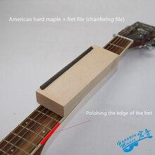 Бакелит напильник для ладов гитары Luthier файл Американский набор для сборки электрогитары гладить узкий двойной передний край инструмент профессиональные инструменты
