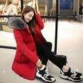 2017 Winter Jacket Women Fashion Women's Jacket Cloak Style Cotton Wadded Coat Women Thick Parka Fur Collar Plus Size 3XL C2471