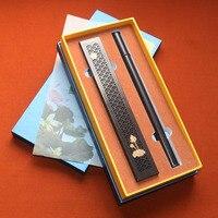 Quality 36pcs 5years Natural Vietnam Nha Trang agar oud wood Stick Incenseburner paper gift box set stick storage box holder