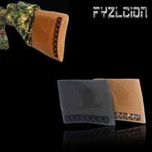 Tactical Airgun Air Rifle Slip-On Rubber Recoil Pad Buttstock Shotgun Shooting Buttstock Extension Rubber Butt Accessories цена в Москве и Питере
