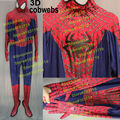 High Quality Spiderman Costume Adult 3D Cobwebs Embossed Spider Amazing Spider-Man 2 Cosplay Costume Embossed Spiderman Costume